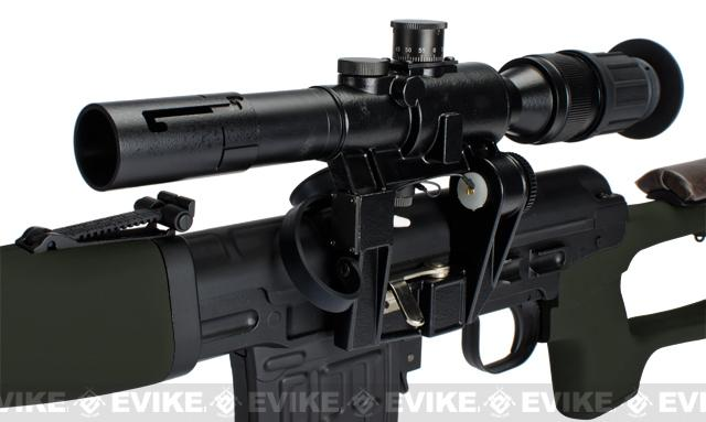 AIM Gas Blowback Russian Classic AK SVD Airsoft GBB Sniper Rifle w/ Scope - OD Green