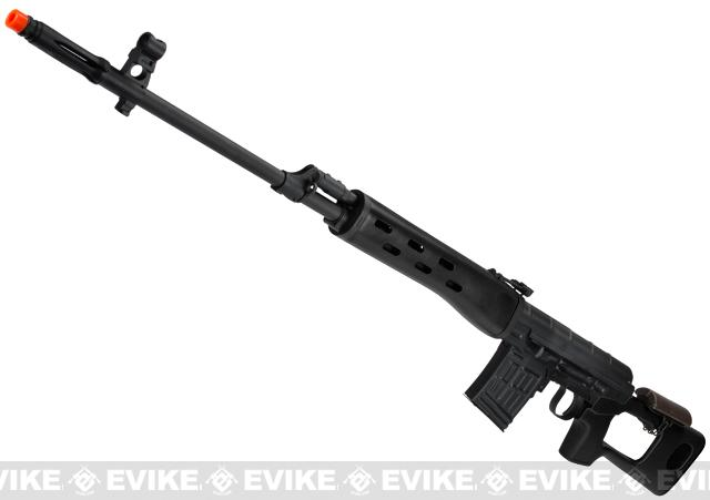 AIM Co2 High Power Gas Blowback AK SVD Airsoft GBB Sniper Rifle - Black