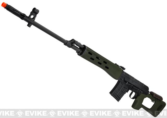 AIM Co2 High Power Gas Blowback AK SVD Airsoft GBB Sniper Rifle - OD Green
