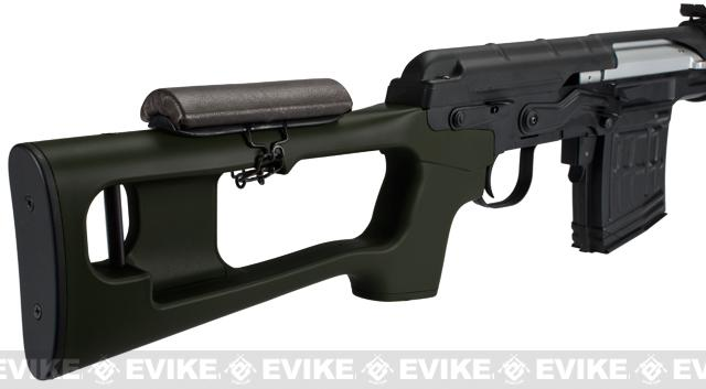 AIM Co2 High Power Gas Blowback AK SVD Airsoft GBB Sniper Rifle (Color: OD Green)