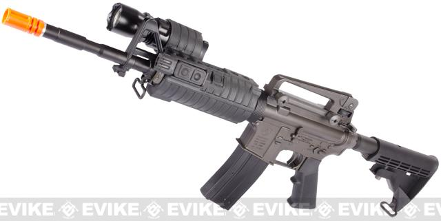 z Evike Custom King Arms M4A1 Airsoft GBB Rifle w/ e500 TacLight