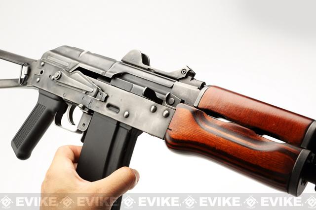 Pre-Order ETA December 2016 GHK Full Metal AKS-74U Airsoft GBB Rifle w/ Real Wood Handguard (LCT Frame)