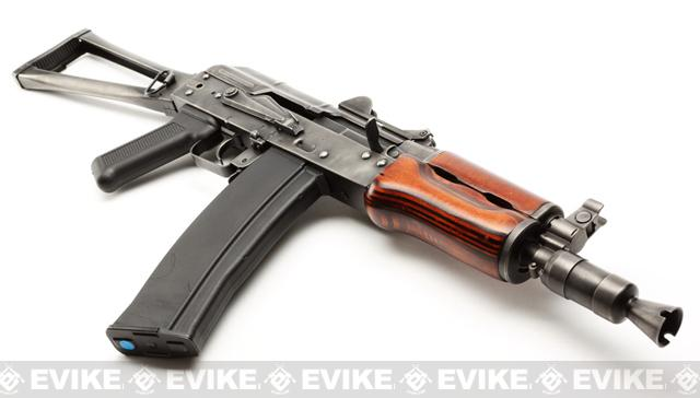 GHK Full Metal AKS-74U Airsoft GBB Rifle w/ Real Wood Handguard (LCT Frame)