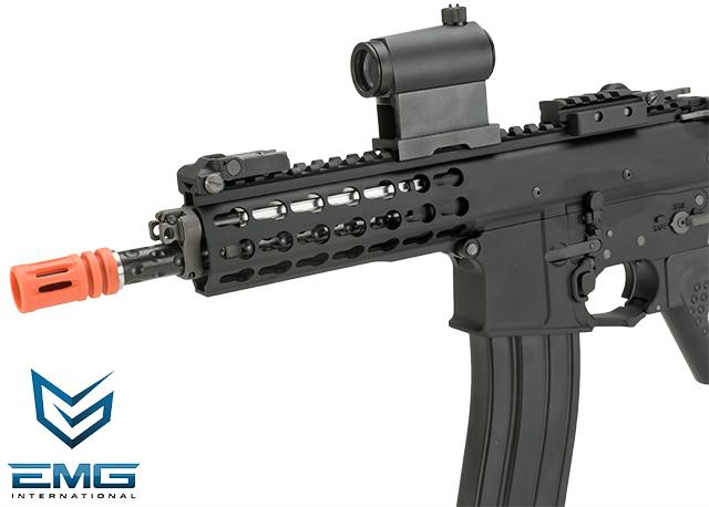 EMG Knights Armament Airsoft PDW M2 Compact Gas Blowback Airsoft Rifle (Model: 400FPS / Green Gas Magazine)