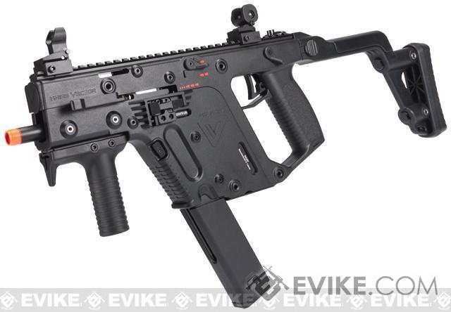 KRISS Vector Full Size Airsoft GBB SMG by KWA - Black, Airsoft ...