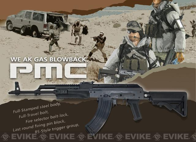 WE AK PMC Spec. Op Full Metal Airsoft Gas Blowback GBB Rifle