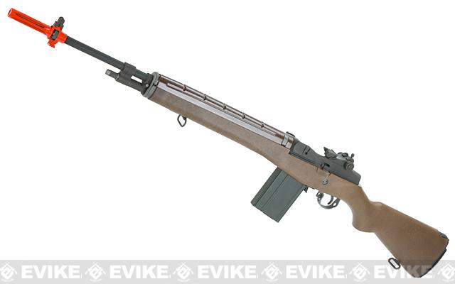 Evike Custom 500 FPS WE-Tech M14 Sniper Full Metal Airsoft Gas Blowback Sniper Rifle (Metal / Imitation Wood)