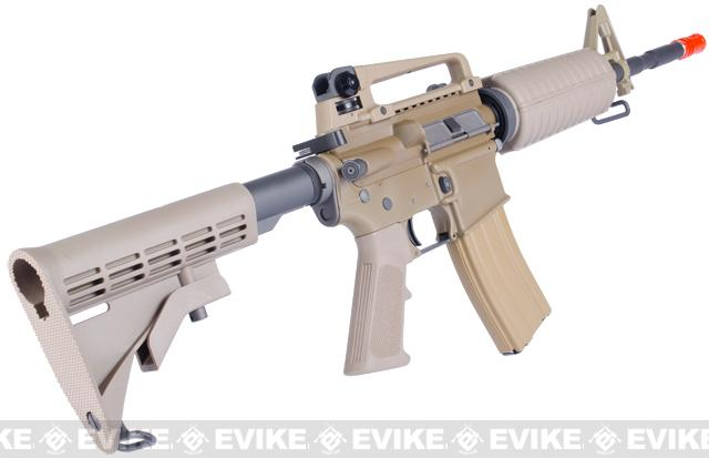 WE Open Bolt Full Metal M4 Airsoft Gas Blowback GBB Rifle - Desert Tan
