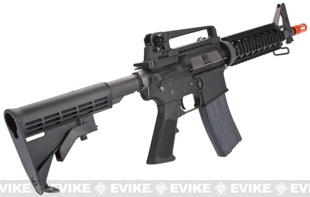 WE Open Bolt Full Metal M4CQB Airsoft Gas Blowback GBB Rifle - Black