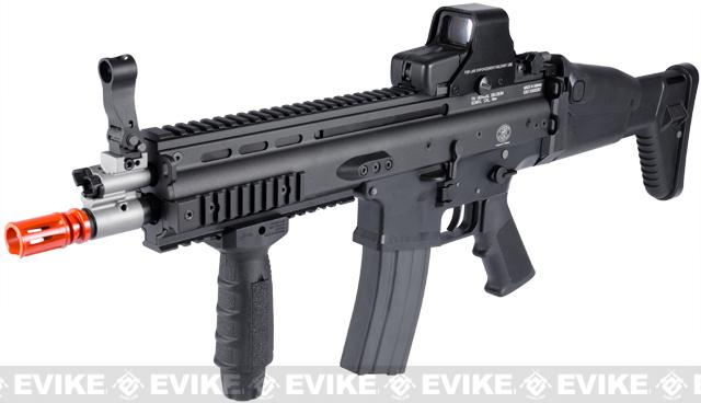 FN Licensed Open Bolt SCAR-L Airsoft GBB Rifle by WE w/ CO2 Mag - Black