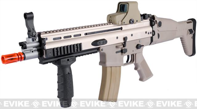 FN Licensed Open Bolt SCAR-L Airsoft GBB Rifle by WE w/ CO2 Mag - (Tan)