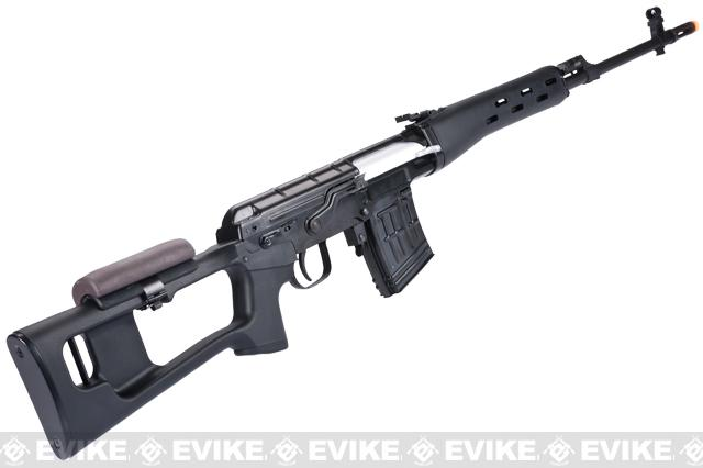 Bone Yard - WE-Tech SVD Airsoft Gas Blowback Sniper Rifle - Polymer Furniture / Aluminum Receiver (Store Display, Non-Working Or Refurbished Models)