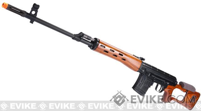 WE Platinum CNC Billet Aluminum Receiver SVD Airsoft GBB Gas Blowback Sniper Rifle w/ Real Wood