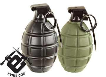 SY Airsoft Gas Powered Hand Grenade (Pineapple Type) - Black (One)