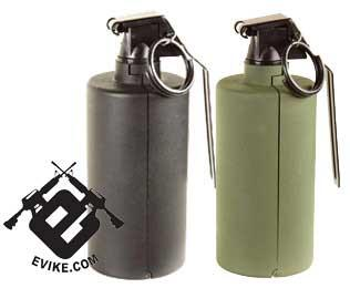 SY Airsoft Gas Powered Hand Grenade (Flash Bang Type) - Black (One)