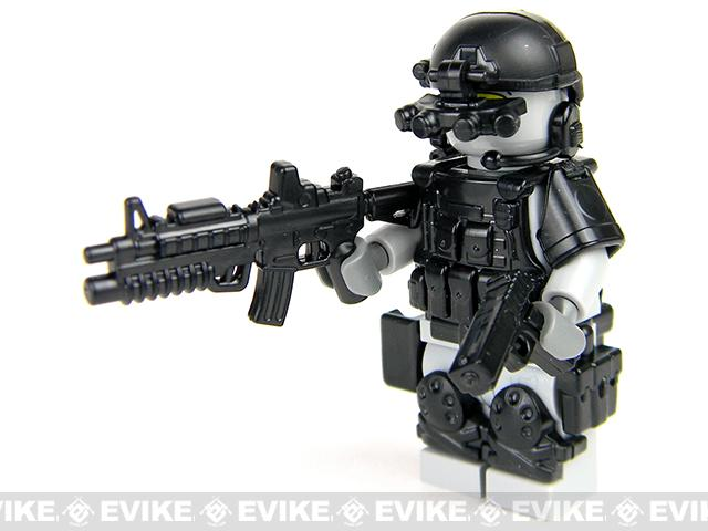 Battle Brick Customs Military Mini-Figure - Grey Army Special Forces Heavy Assault Commando