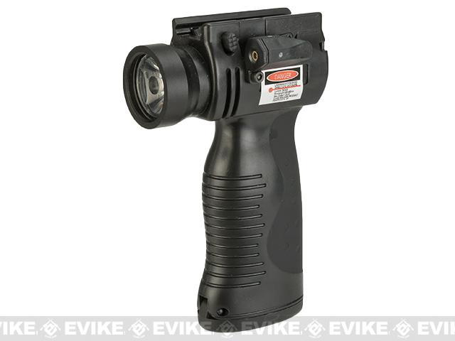 Matrix Integrated LED Flashlight and Laser Vertical Aiming Module