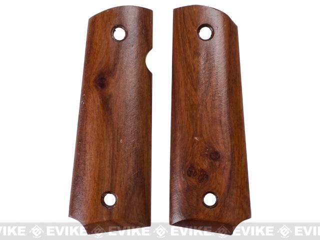 Future Energy Real Wood Grip Panels for TM 1911 Airsoft GBB Pistols - Yellow Rosewood