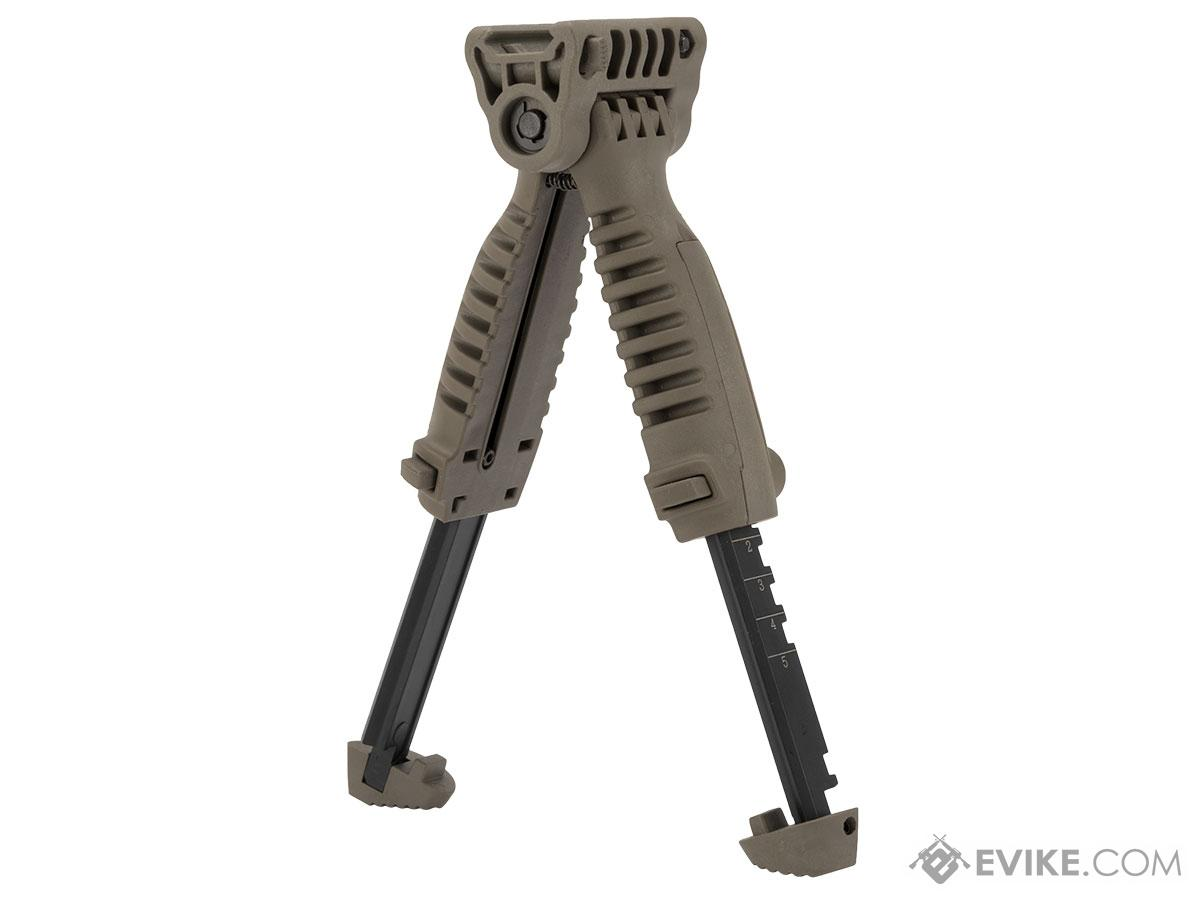 Matrix SB Type Vertical Bipod Grip for Airsoft Rifles (Color: Dark Earth)