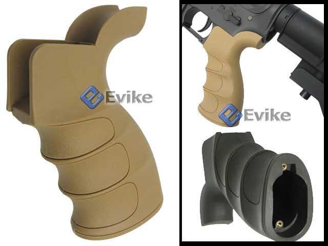 Matrix G27 Grooved Motor Grip for M16 / M4 Series Airsoft AEG Rifle (Desert Tan)