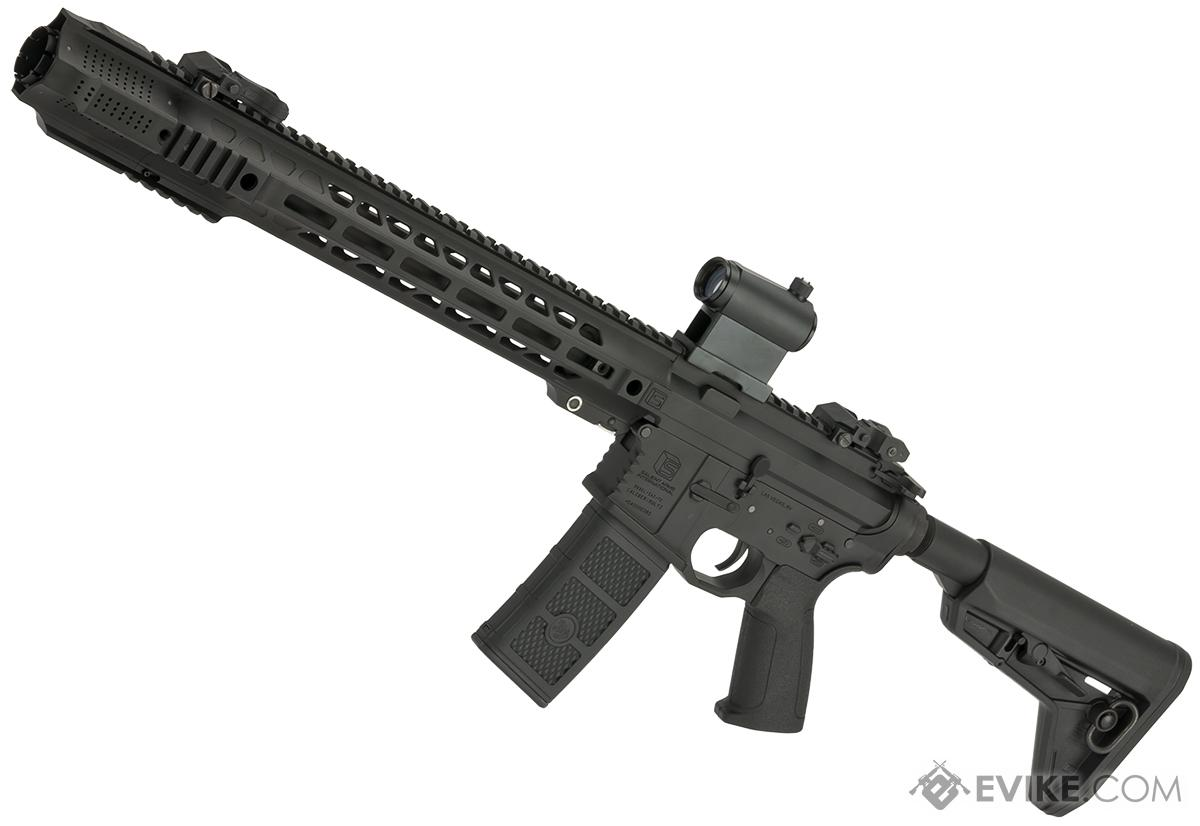 Pre-Order ETA October 2016 EMG SAI Licensed AR-15 GRY M4 Airsoft AEG Training Rifle with JailBrake Muzzle Device and Red Dot - Magpul (Package: Rifle)