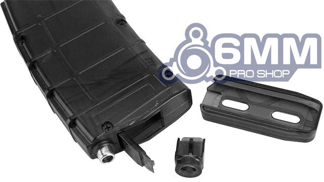 6mmProShop 500 Round Rifle Mag Size Airsoft Universal BB Speed Loader - Smoke