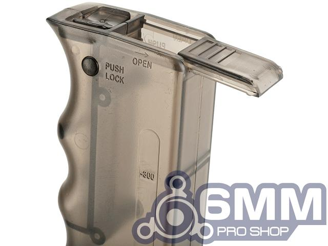 6mmProShop 400 Round SMG Mag Size Airsoft Universal BB Speed Loader (Color: Smoke)