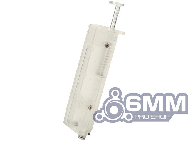 6mmProShop 120 Round Pistol Mag Size Airsoft Universal BB Speed Loader (Color: Clear)