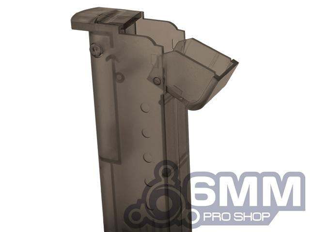 6mmProShop 120 Round Pistol Mag Size Airsoft Universal BB Speed Loader - Smoke
