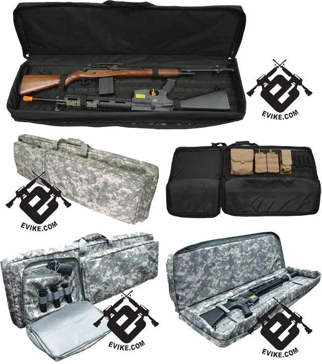 Tactical 46 Dual Rifle Case Gun Bag - Black