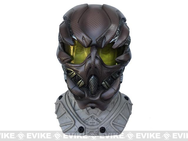 Evike.com R-Custom Fiberglass Mask w/ High Impact Lens Gunner - SEAL Pattern Brown