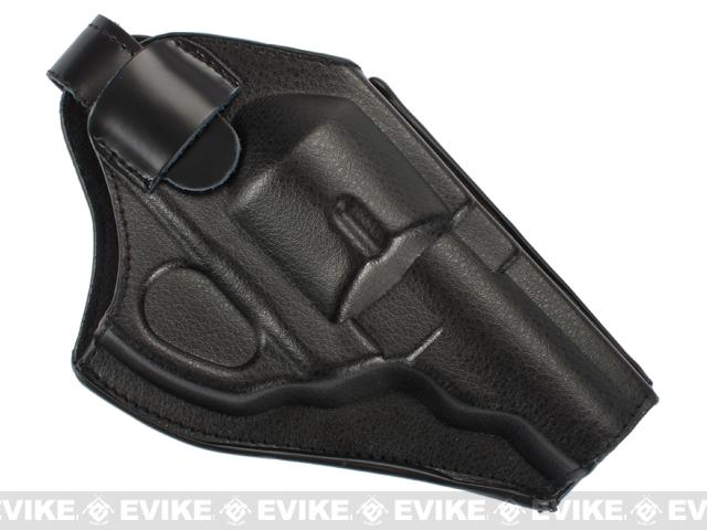 Molded Holster for  2.5 / 4 Revolver Pistols by Win Gun / ASG - Leather