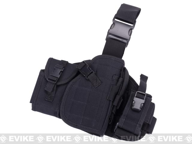 Lancer Tactical MOLLE Platform Drop Leg Holster - Black