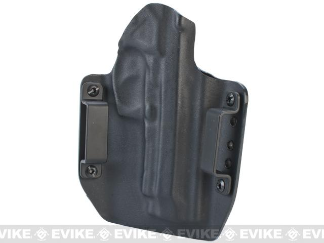 KAOS Concealment Kydex Belt / MOLLE Holster - KWA M9 Tactical PTP (Left / Black)