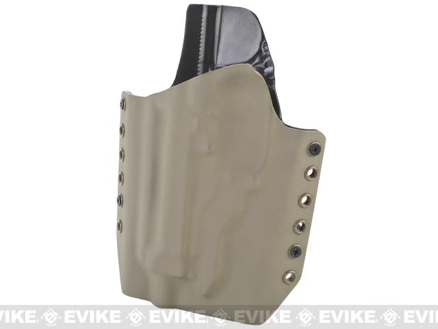 KAOS Concealment Kydex Belt / MOLLE Holster - KWA M93R (Left / Dark Earth)