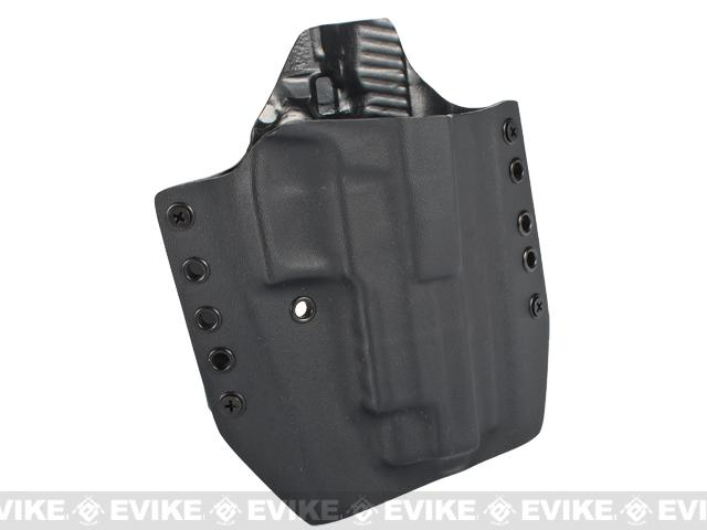 KAOS Concealment Kydex Belt / MOLLE Holster - KWA P226 (Right / Black)