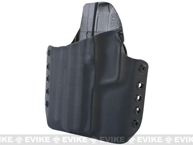 KAOS Concealment Kydex Belt / MOLLE Holster - KWA USP Tactical (Left / Black)