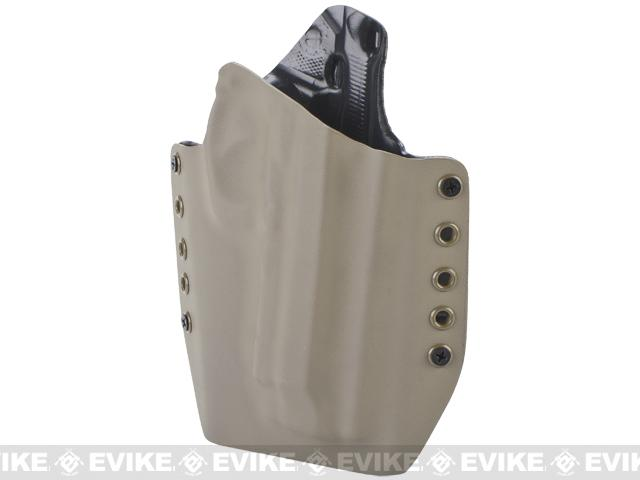 KAOS Concealment Kydex Belt / MOLLE Holster - KWA M9 Tactical PTP (Right / Dark Earth)