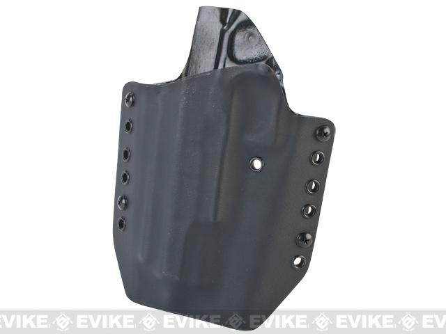 KAOS Concealment Kydex Belt / MOLLE Holster - WE Tokyo Marui KJW Hi-CAPA 5.1 (Left / Black)