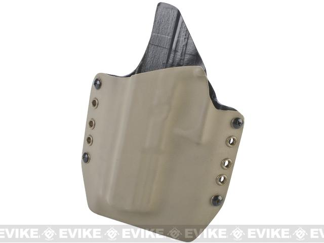 KAOS Concealment Belt / MOLLE Kydex Holster for Glock 17 (Left / Dark Earth)