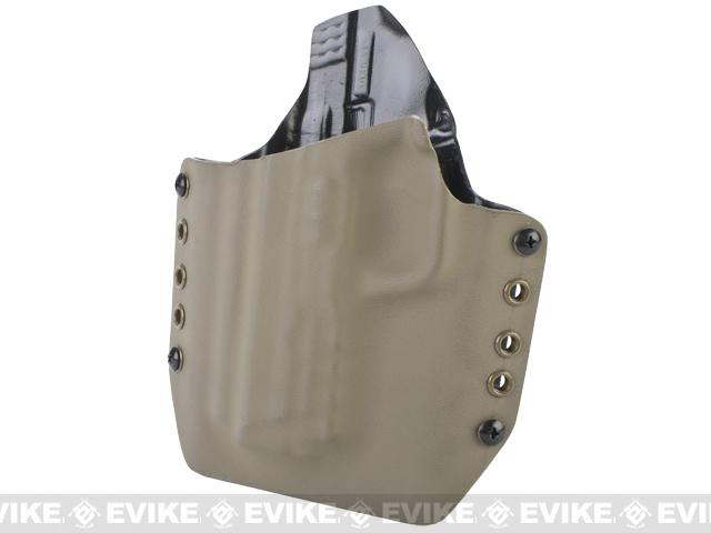 KAOS Concealment Kydex Belt / MOLLE Holster - WE VFC BB-Force M&P Big Bird (Left / Dark Earth)