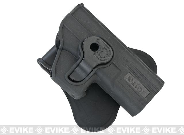 Matrix Hardshell Adjustable Holster for Glock ATP ACP  Airsoft Pistols (Mount: Paddle Attachment)