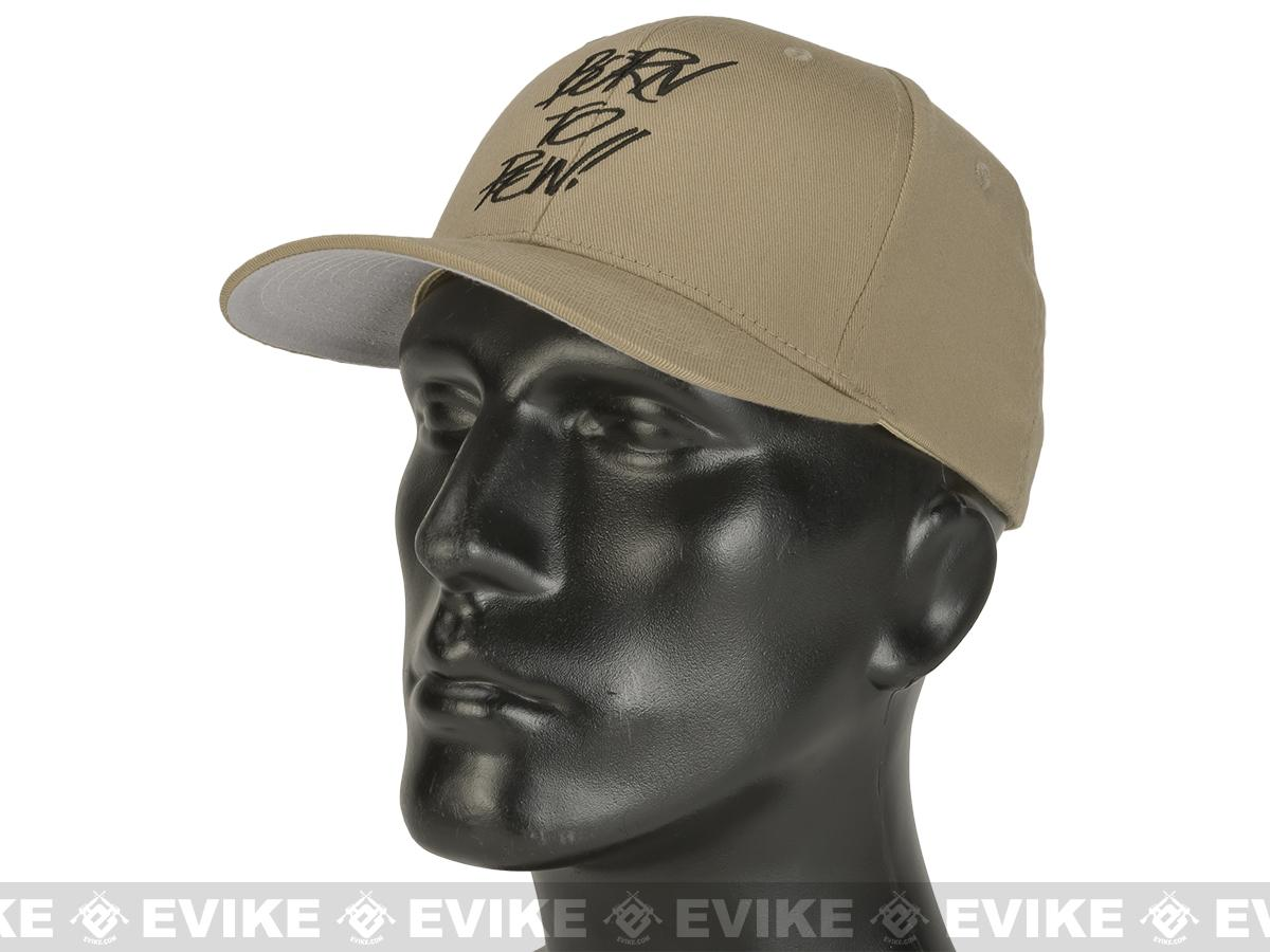Evike.com Born to Pew FlexFit Fitted Hat - Tan (Size: Small/Medium)