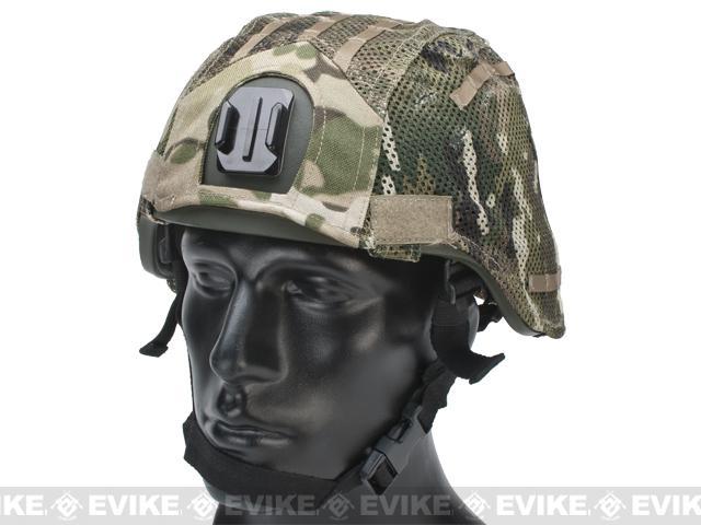 Matrix Mesh Helmet Cover for MICH 2000 Airsoft Helmets - Camo