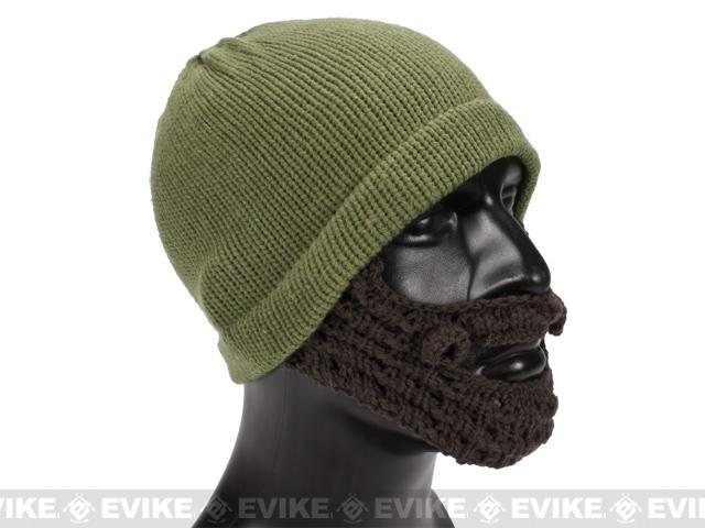 Evike.com Tactical Beard Beanie - OD Green / Black