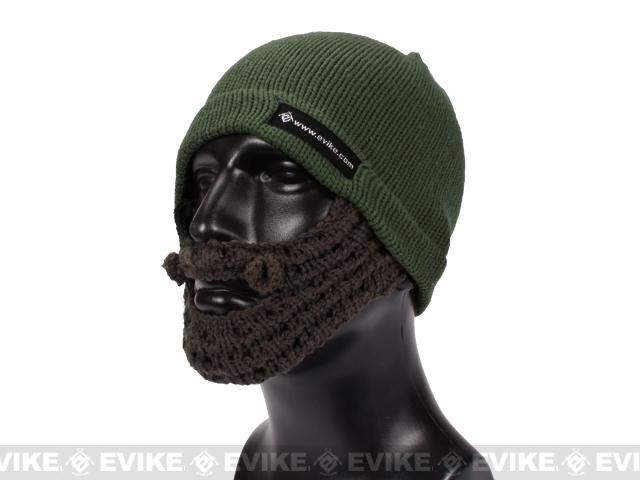 Evike.com Tactical Beard Beanie - OD Green / Brown