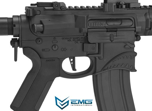 (10 MAGAZINE BUNDLE DEAL) EMG Hellbreaker Licensed Full Metal Advanced M4 15 Carbine Airsoft AEG Rifle (Black)
