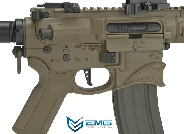 EMG Hellbreaker Licensed Full Metal Advanced M4 15 Carbine Airsoft AEG Rifle (Desert)