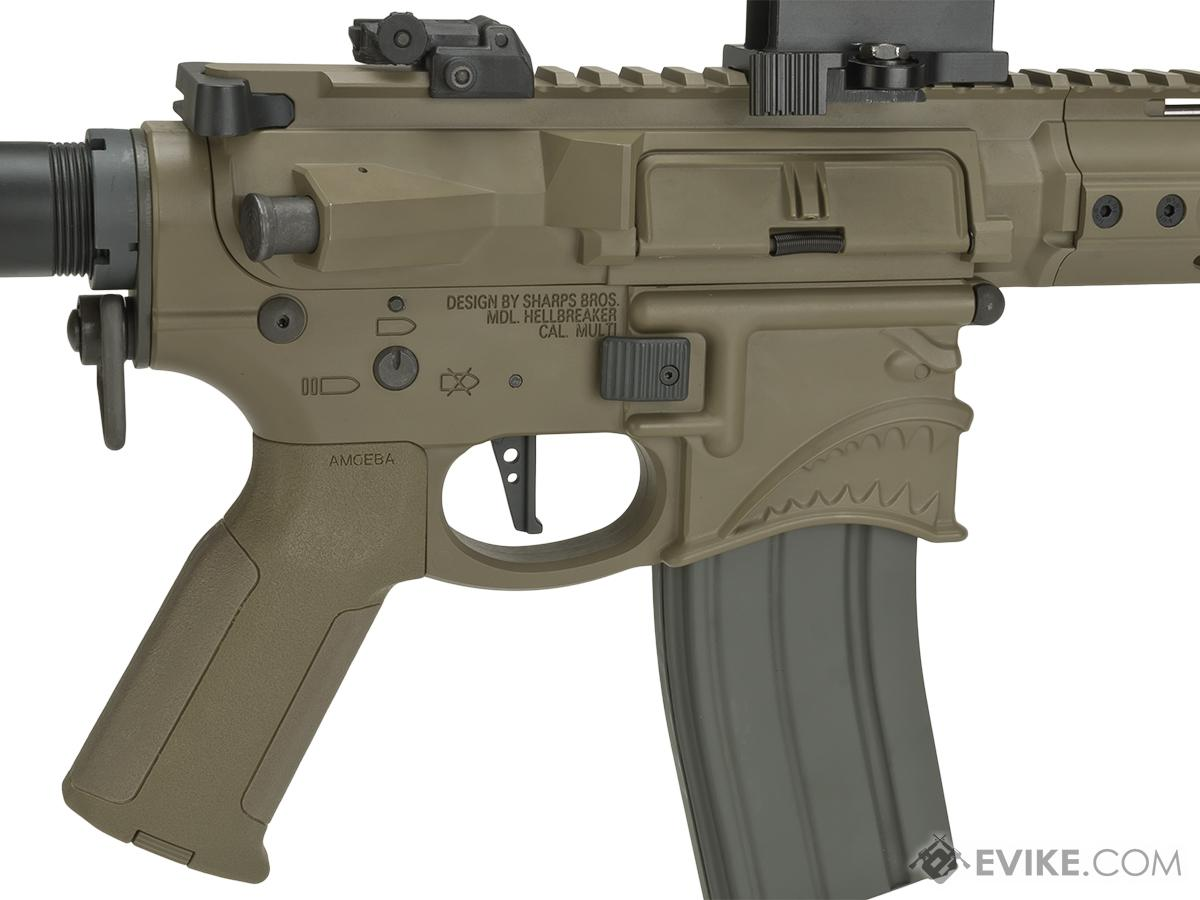 EMG Hellbreaker Licensed Full Metal Advanced M4  Airsoft AEG Rifle (Color: Dark Earth / 7 SBR)