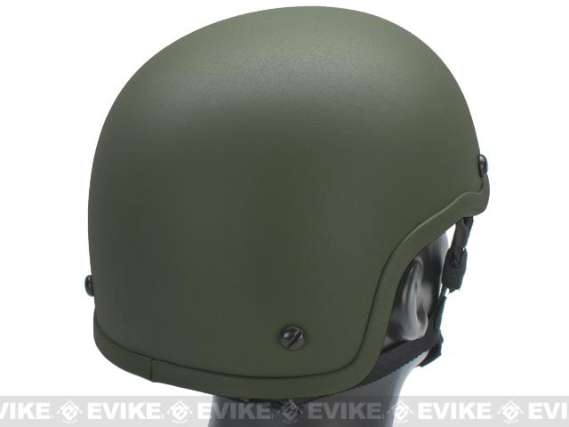 MICH 2001 Fiberglass Airsoft Helmet by Matrix - OD Green